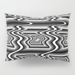 Grey Optical Pattern Pillow Sham