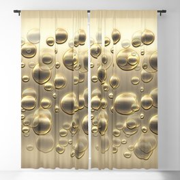 Gold Fall Bubbles Celebraton Blackout Curtain