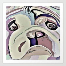BULLDOG Denim Colors Art Print