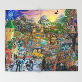 Magical Mystery Tour Color Edit Throw Blanket