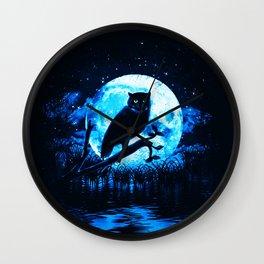 beauty in the moonlight night Wall Clock