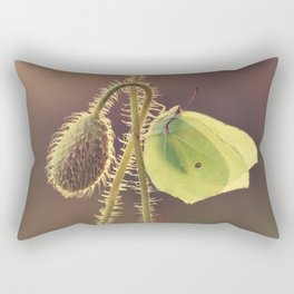 Pink Poppies Rectangular Pillow