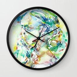 RABINDRANATH TAGORE - watercolor portrait Wall Clock