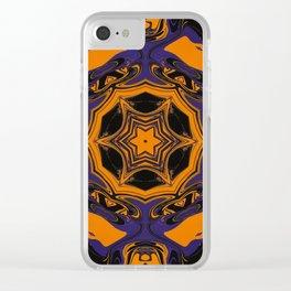 Halloween Kaleidoscope Clear iPhone Case
