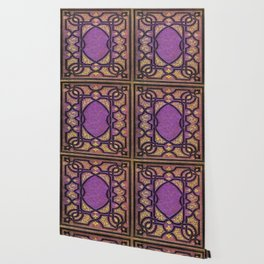 Purple and Gold Vines Book Wallpaper