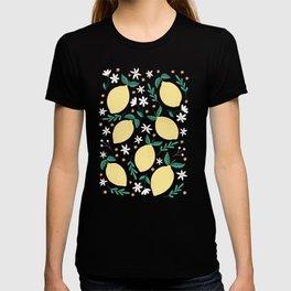Lemons on Midnight Blue T-shirt