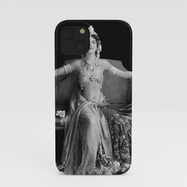 Mata Hari, Famous French Dancer and Femme fatale black and white photograph / black and white photography iPhone Case