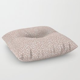 Little wild cheetah spots animal print neutral home trend warm dusty rose coral Floor Pillow