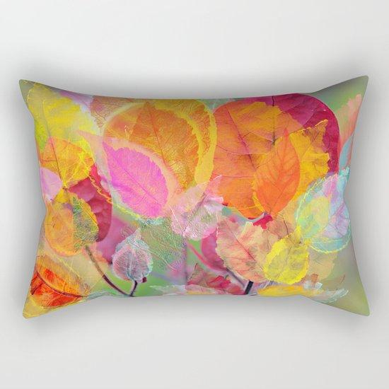 Leaf mosaic(30). Rectangular Pillow
