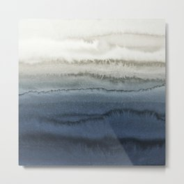 WITHIN THE TIDES - CRUSHING WAVES BLUE Metal Print