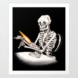 Skelly Flamerworker Art Print
