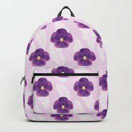 Purple Viola Flowers Pattern Backpack