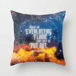 Zodiac - Everlasting Flame Throw Pillow