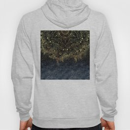 Stylish Gold floral mandala and confetti Hoody
