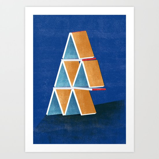 house of cards Art Print