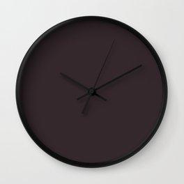 Solid Dark Charcoal Grey Color Wall Clock