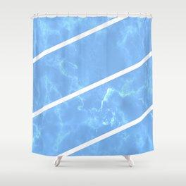 Blue Granite Shower Curtain