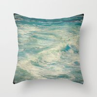 big sur Throw Pillows featuring Big Sur - Pacificus Wondrous  by Jenndalyn
