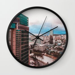 Sky Scraper Wall Clock