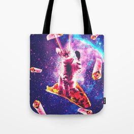 Outer Space Taco Cat - Rainbow Laser Eyes, Burrito Tote Bag