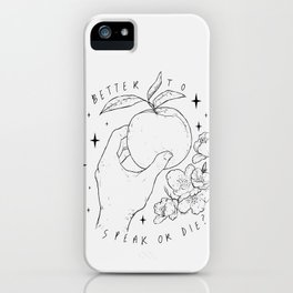 Speak Or Die ? -grey- iPhone Case