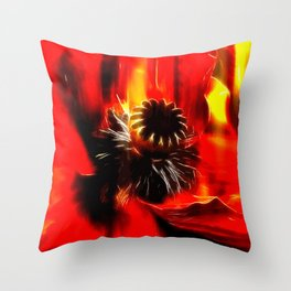 Mohnblüte Throw Pillow