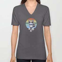 Raccoon Wear Mask  Unisex V-Neck