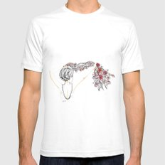 rose shower Mens Fitted Tee White SMALL