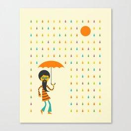 PSYCHEDELIC RAIN Canvas Print