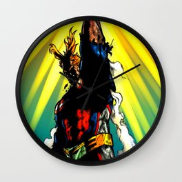 THE SYMBOL OF PEACE - ALL MIGHT Wall Clock