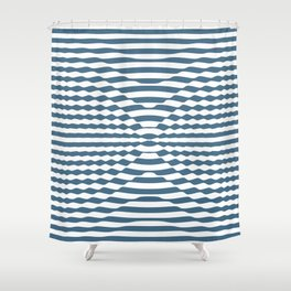 Blue Swirl Shower Curtain
