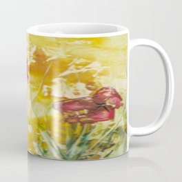 Abstract Red Poppies From Original Encaustic Art Coffee Mug