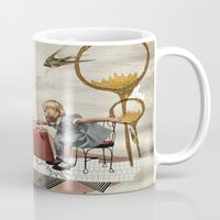 tea Mugs featuring tea time by Heather Landis