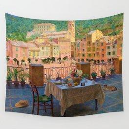 My lunch table in Portofino Italian Riviera by Kristian Zahrtmann Wall Tapestry