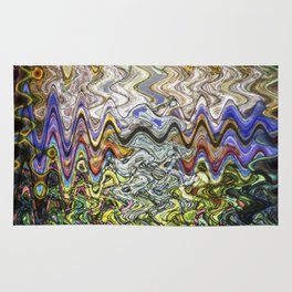 Stain Glass Wave Rug