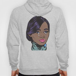 Crying Pastel African American Woman Hoody