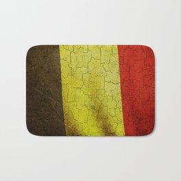 Cracked Belgium flag Bath Mat