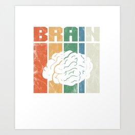 Brain Vintage Art Print