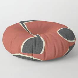 eighth note red Floor Pillow
