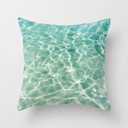 Clear Ocean Water Throw Pillow