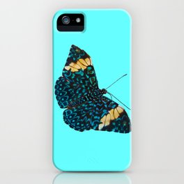 Butterfly on Blue iPhone Case
