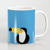 toucan Mugs featuring Toucan by Mark Walker