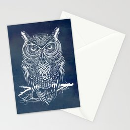Warrior Owl Night Stationery Cards