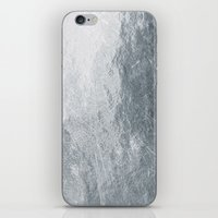 silver iPhone & iPod Skins featuring Silver by Patterns and Textures