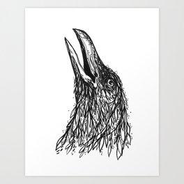 Caw Art Print