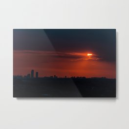 Istanbul sunset Metal Print