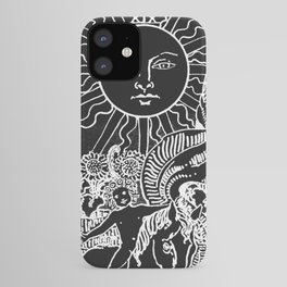 The Sun and Moon Tarot Cards   Obsidian & Pearl iPhone Case