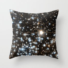 Sparkle Star Field in the Universe Throw Pillow