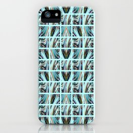 Aqua Grid iPhone Case