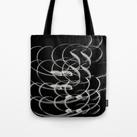 calligraphy Tote Bags featuring Calligraphy  by CrypticFragments Design